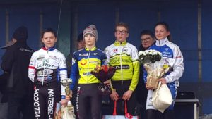 Olympique Club Cycliste Cessonnais - podium Maelle - 25 mars 2018